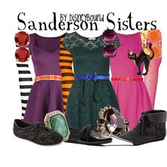"""""""Sanderson Sisters"""" by lalakay on Polyvore"""
