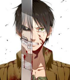 Attack on Titan - Shingeki no Kyojin - Eren Jaeger Manga Anime, Film Manga, Got Anime, I Love Anime, Awesome Anime, Me Me Me Anime, Anime Art, Anime Guys, Mikasa