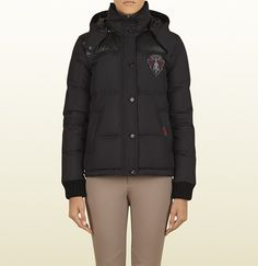 Down Jacket With Gucci Crest - perfect for fall rides