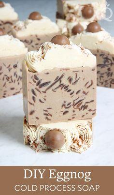DIY Eggnog Cold Process Soap