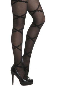 Lace Tied Belt Black Tights #Romwe