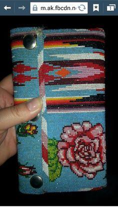 Native beaded wallet