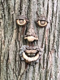 Excited to share this item from my shop: Unpainted, Ready to Paint, Ceramic Bisque Tree Face Ceramic Painting, Stone Painting, Sensory Equipment, Ready To Paint Ceramics, Tree Faces, Backyard Gazebo, Pond Landscaping, Tree Carving, Lorax