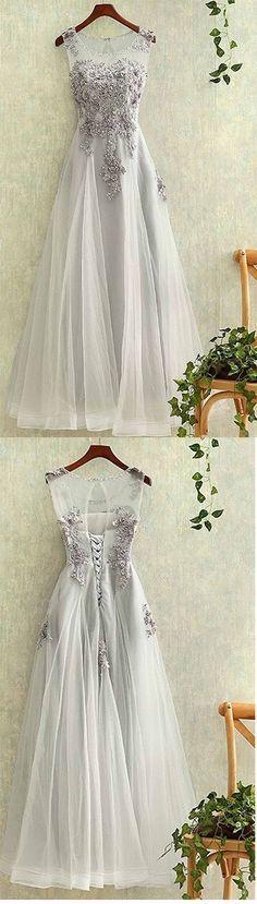 Elegant Prom Dress,Long Prom Dress, Appliques Prom Dresses,Elegant Tulle Homecoming Dress Prom Dresses,Tulle Backless Evening Dress,Prom Dresses,GY68