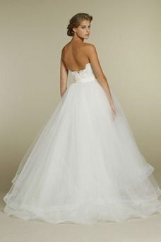 Vestido de novia Romántico tul Playa Marfil Falta Espalda medio descubierto