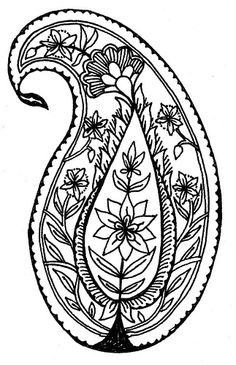 Illustration by Penina S, Finger - November Paisley 4 (motif) | Flickr - Photo Sharing!