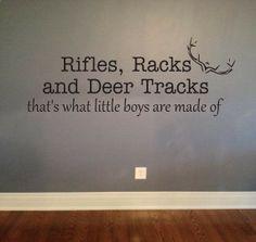 Rifles Racks Deer Tracks Vinyl Lettering Decal by OZAVinylGraphics -Home Decor