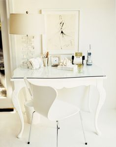 Pretty, feminine desk | domino.com