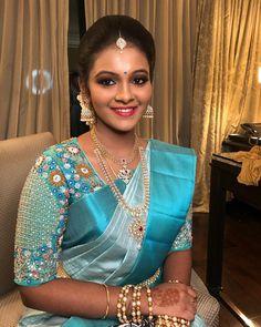 By glamour beauty mumbai andheri. By glamour beauty mumbai andheri. Cutwork Blouse Designs, Wedding Saree Blouse Designs, Pattu Saree Blouse Designs, Half Saree Designs, Fancy Blouse Designs, Wedding Blouses, Blouse Patterns, Stylish Blouse Design, Glamour Beauty