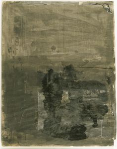 Robert Rauschenberg - Untitled (black painting on paper)