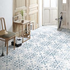 French Antique Tile ー夏水組デザイン クッションフロア Interior And Exterior, Stove, Flooring, Contemporary, Rugs, Home Decor, Amazing, Products, Kitchen Cook