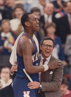 Danny Manning and Coach Larry Brown at Kansas University National NCAA Championship game 1988--I was cheering then!! Awesome!!