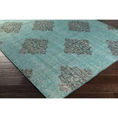 Artistic Weavers Zabar Teal 8 ft. x 11 ft. Indoor Area Rug-S00151033238 - The Home Depot