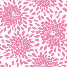 Hot Pink Toss The Bouquet Wallpaper for C's nursery (accent wall).