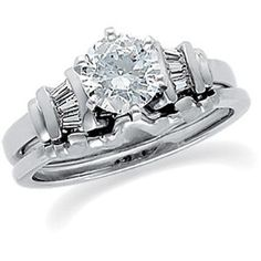 Platinum Diamond Wedding Set Semimount