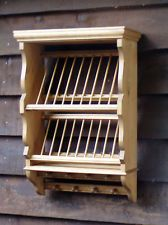 Traditional Pine Platerack - Single