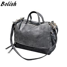 Special offer Bolish  New Arrive Women Shoulder Bag Nubuck Leather women handbag Vintage Messenger Bag Motorcycle Crossbody Bags Women Bag just only $15.84 with free shipping worldwide  #womanshoulderbags Plese click on picture to see our special price for you