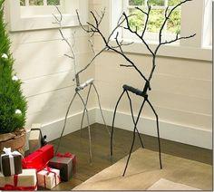 lol! a modern, contemporary, minimalist, surreal, Diy reindeer