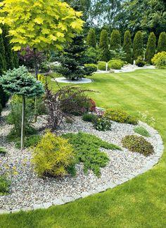 Front Yard Landscaping Design, Garden Landscape Design, Cottage Garden, Outdoor Gardens Design, Evergreen Garden, Outdoor Gardens, Backyard Garden Design, Rock Garden Landscaping, Garden Planning