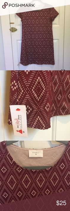 Diamond Days Dress- small, maroon by Everly Never worn, brand new with tags! Size small from a cute boutique in Athens, Georgia. Everly Dresses Midi