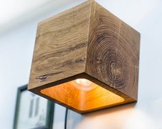 wall light wooden SC52 handmade. wooden sconce. wood lamp.