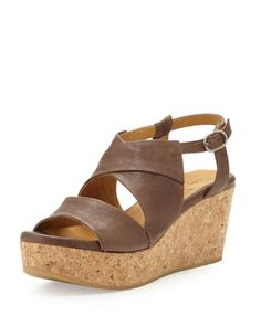 Melania Cork-Wedge Sandal by Coclico at Neiman Marcus.