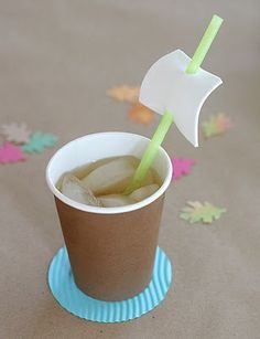 cute ship sail straw - food for kids - put their names on them to keep track of the cups!