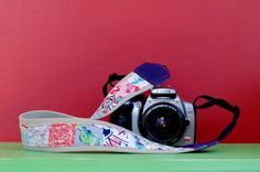 DIY Vintage Feed Sack Patched Camera Strap - My So Called Crafty Life