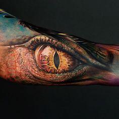 Dragon Eye http://tattooideas247.com/dragon-eye/