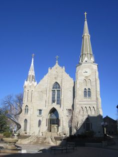 St. John's Catholic Church on the campus of Creighton University in Omaha, Nebraska.