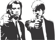 Pulp Fiction Movie Wall Art Decal Decor Print Sticker Vinyl Poster Size: W x H W x H) Ideal for Walls, Pulp Fiction Tattoo, Arte Pulp Fiction, Vinyl Poster, Fiction Movies, Dictionary Art, Stencil Art, Stenciling, Nerd, Graffiti Art