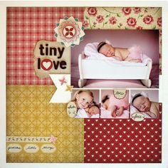 Love this simple scrapbook page design and the papers from Cosmo Cricket