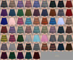 Real pleats mini skirt checked at Marigold Sims New, Sims 4 Teen, Sims Four, Sims 4 Mm, Sims 4 Male Clothes, Sims 4 Clothing, Pleated Mini Skirt, Mini Skirts, Marigold Sims 4
