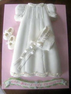Christening Dress Cake For Baby Girl Baby Christening Cakes, Baptism Cakes, Religious Cakes, First Communion Cakes, Baby Girl Cakes, Shower Bebe, Dress Cake, Fancy Cakes, Celebration Cakes