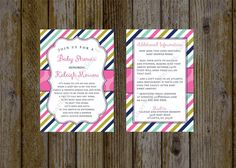 Baby Shower Invitation - Long Distance Baby Shower Invitation - Shower By Mail Invitation - Couple Baby Shower Invitation