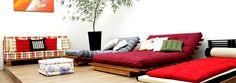 fotos  fotos    Ter um futon é um sonho não é mesmo? Aquelas almofadas lindas que até pouco tempo atrás só os orienta...