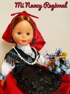 NANCY GALLEGA Nancy Doll, Regional, Snow White, Disney Characters, Fictional Characters, Costumes, Dolls, Disney Princess, Dress