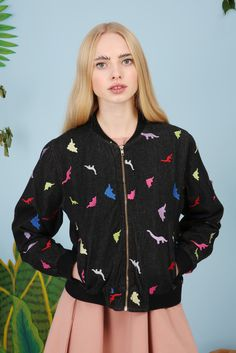 Embroidered Dinosaur Jacket - £68.00  http://www.thewhitepepper.com/collections/coats-jackets/products/embroidered-dinosaur-jacket