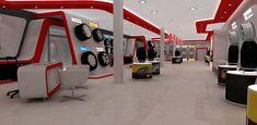 Automotive tyre showroom concept on Behance Tire Rack, Car Workshop, Tyre Shop, Showroom Design, Pop Design, Retail, Concept, F1, Toyota