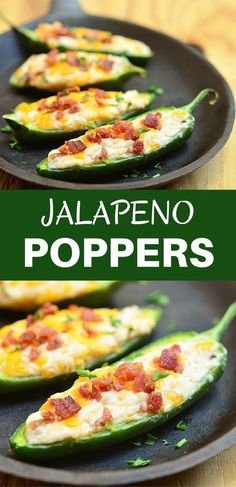 Jalapeno Poppers are stuffed with a mixture of cream cheese, shredded cheddar, and crumbled bacon and then baked until gooey and bubbly. Creamy and spicy, they're like a party in your mouth!