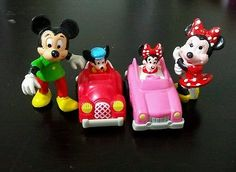 Mickey Minnie Mouse Green Shirt FIGURE DISNEY pencil cake topper cars lot 4