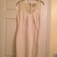 Elizabeth and James dress Elizabeth and James dress. Features pleating in the chest area and on the hips. It has mesh inserts that are sheer, but not super sheer. So cute! Great condition! Never worn! Elizabeth and James Dresses Mini