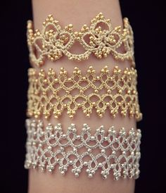 """232 Likes, 10 Comments - Tatting Louisa (@tatting_lu) on Instagram: """"#Tatting #bracelets I made for friends last week.  My 4 year old daughter is the arm #model and she…"""""""