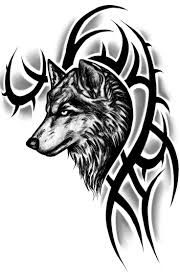 Wolf head with Tribal markings.... Upper arm maybe?......