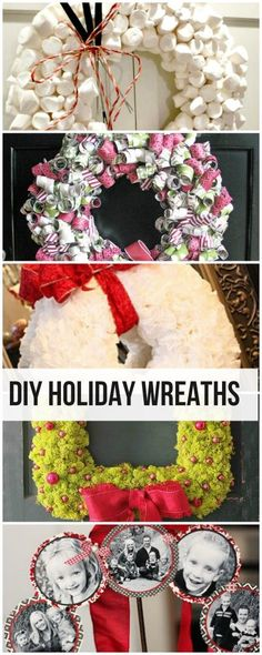 DIY Holiday Wreaths • Lots of tutorials to teach you how to make an easy Christmas wreath!