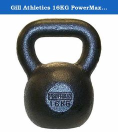 Gill Athletics 16KG PowerMax Kettlebell. Constructed of cast iron, PowerMax Kettlebells facilitate sport-specific resistance training like no other equipment or implement. A truly unique tool for the development of speed and power. This Gill Athletics kettlebell weighs 16 kilograms (35.3 pounds).