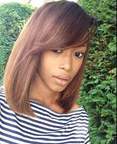 Brown short hair