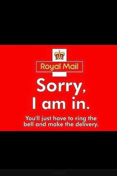 Royal Mail delivery card