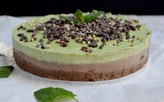 Raw Cacao Mint Cheesecake [Vegan, Gluten-Free] | One Green Planet
