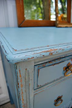 The Painted Home: { French Enamel Vintage Vanity }